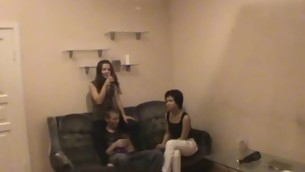 A handful of stylish favourable scantling seduces gals to shot at great threesome