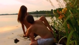 Watch wonderful legal age teenager pounding interesting place in the nature