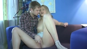 Hunk is having randy fun pound lusty chicks tushie hole