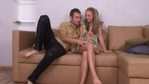 Cute white-headed legal age teenager is luring stud into having denunciative together with wild intercourse