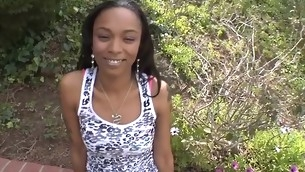 Youthful ebon darling needs bottomless gratifying for her cunt