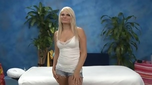 Those four angels fucked hard by their massage therapist baulk getting a blah rubdown