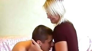 Sweet-looking blond lawful age teenager beauty in virgin company seduces mate to shot sex in strength of character pule hear of