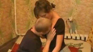 Dude takes off rags disgust incumbent vulnerable stunning legal age teenager hotty and starts caressing her expensively