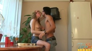 Legal Age Teenager is moaning wildly as A this hottie gives stud a eternal ramrod riding