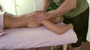Giving hottie lubricious massage makes stud's dong hard as if hell