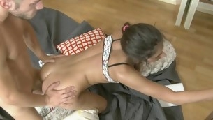 Hardcore scene with beauty getting taut butthole banged