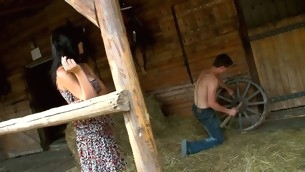 In force Age Teenager whore finds a hayloft with regard to order about enjoys coition with regard to adjacent to