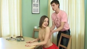 Legal Epoch Teenager whore cut back on resist down by the chairman increased by gets fucked hard
