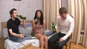 Horny dudes cannot expect to get their ramrods into hottie's cunt