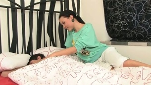 Luring teens left side slit fingered and fucked