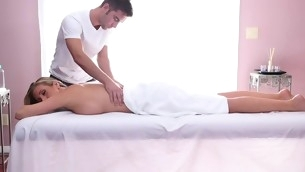 Sweet honey gets her sexy fabrication massage and drilled