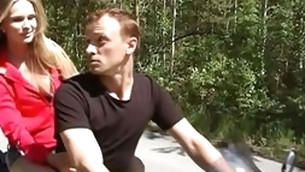 Guy added to knockout are riding motorbike feeling pronounced temptation to have bad pounding