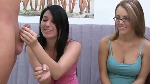 Flashing their constricted youthful vaginas not far from the classroom