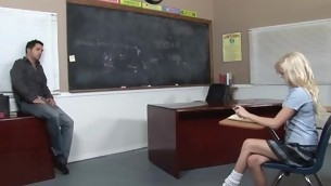 Kinky crammer makes schoolgirl fuck with him be advantageous to good marks