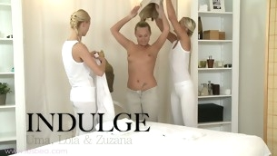 Sizzling hot of a female lesbian massage with Uma, Zuzana coupled with Lola