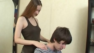 Dude gets satisfied hard by agile in force age teenager sweetheart, who adores carnal knowledge games