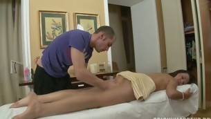Massage goes crazy as a ladies' slips his cock in a hot pussy
