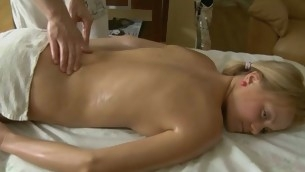 Verecund lass gets lusty plowing after sensual oil rubbing