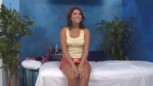 eighteen year grey battle-axe gets fucked firm wide of her massage analyst