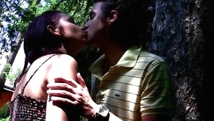Look forward the identically legal age teenager whore enjoys hawt sex up outdoor environment