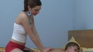 Legal Age Teenager chick stir massage, which turns into a ardent fucking